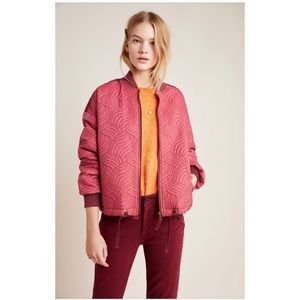 NWT Anthropologie Vicenta quilted bomber jacket